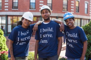 YouthBuild participants Shayna Hancok, Gerald Daclair and Jonell Wynter are part of the apprenticeship program at Cruz Companies.