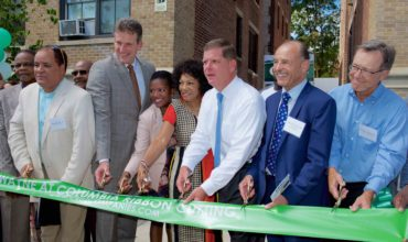 Cruz Companies, Mayor Walsh and Secretary Ash Cut Ribbon on Wayne at Columbia Housing Development