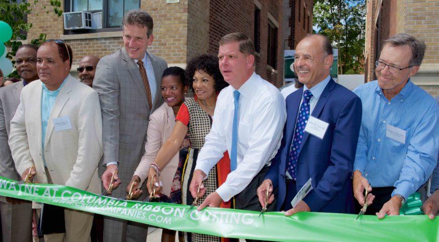 Cruz Companies, Mayor Walsh and Secretary Ash Cut Ribbon on Wayne at Columbia Housing Development